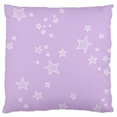 Star Lavender Purple Space Large Flano Cushion Case (Two Sides)