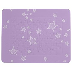 Star Lavender Purple Space Jigsaw Puzzle Photo Stand (Rectangular)