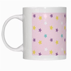Star Rainbow Coror Purple Gold White Blue White Mugs