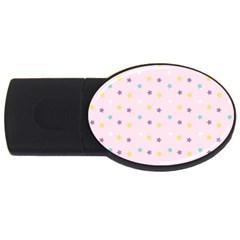 Star Rainbow Coror Purple Gold White Blue USB Flash Drive Oval (1 GB)