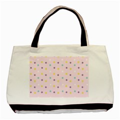 Star Rainbow Coror Purple Gold White Blue Basic Tote Bag (Two Sides)