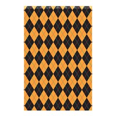 Plaid Triangle Line Wave Chevron Yellow Red Blue Orange Black Beauty Argyle Shower Curtain 48  x 72  (Small)