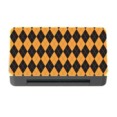 Plaid Triangle Line Wave Chevron Yellow Red Blue Orange Black Beauty Argyle Memory Card Reader With Cf