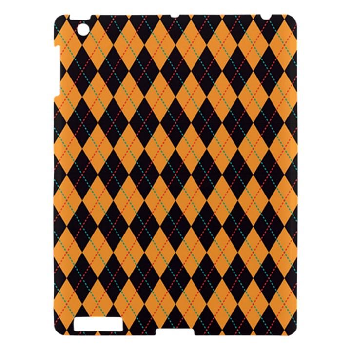 Plaid Triangle Line Wave Chevron Yellow Red Blue Orange Black Beauty Argyle Apple iPad 3/4 Hardshell Case