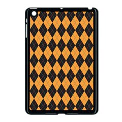 Plaid Triangle Line Wave Chevron Yellow Red Blue Orange Black Beauty Argyle Apple iPad Mini Case (Black)