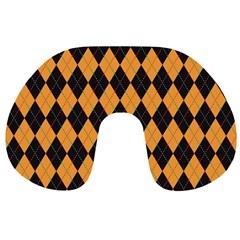 Plaid Triangle Line Wave Chevron Yellow Red Blue Orange Black Beauty Argyle Travel Neck Pillows
