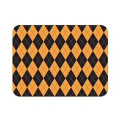 Plaid Triangle Line Wave Chevron Yellow Red Blue Orange Black Beauty Argyle Double Sided Flano Blanket (Mini)