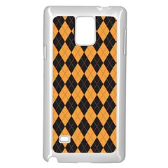 Plaid Triangle Line Wave Chevron Yellow Red Blue Orange Black Beauty Argyle Samsung Galaxy Note 4 Case (white)