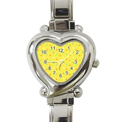 Star Rainbow Coror Purple Gold White Blue Yellow Heart Italian Charm Watch