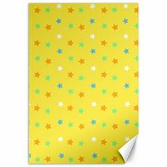 Star Rainbow Coror Purple Gold White Blue Yellow Canvas 12  X 18