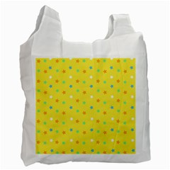 Star Rainbow Coror Purple Gold White Blue Yellow Recycle Bag (Two Side)