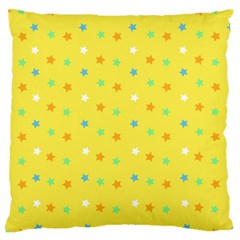 Star Rainbow Coror Purple Gold White Blue Yellow Large Cushion Case (Two Sides)