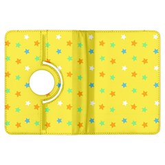 Star Rainbow Coror Purple Gold White Blue Yellow Kindle Fire HDX Flip 360 Case