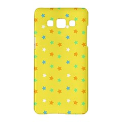 Star Rainbow Coror Purple Gold White Blue Yellow Samsung Galaxy A5 Hardshell Case