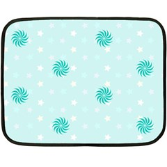Star White Fan Blue Double Sided Fleece Blanket (Mini)