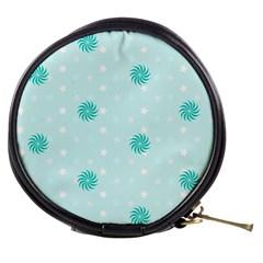 Star White Fan Blue Mini Makeup Bags