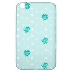 Star White Fan Blue Samsung Galaxy Tab 3 (8 ) T3100 Hardshell Case