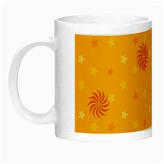 Star White Fan Orange Gold Night Luminous Mugs