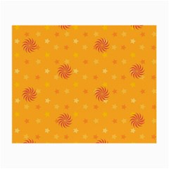 Star White Fan Orange Gold Small Glasses Cloth