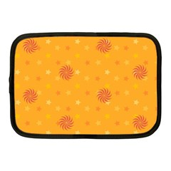 Star White Fan Orange Gold Netbook Case (Medium)