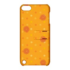 Star White Fan Orange Gold Apple iPod Touch 5 Hardshell Case with Stand