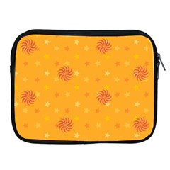 Star White Fan Orange Gold Apple Ipad 2/3/4 Zipper Cases