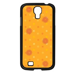 Star White Fan Orange Gold Samsung Galaxy S4 I9500/ I9505 Case (Black)