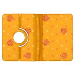 Star White Fan Orange Gold Kindle Fire HDX Flip 360 Case