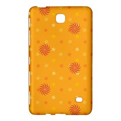 Star White Fan Orange Gold Samsung Galaxy Tab 4 (7 ) Hardshell Case