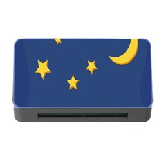 Starry Star Night Moon Blue Sky Light Yellow Memory Card Reader with CF