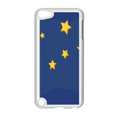 Starry Star Night Moon Blue Sky Light Yellow Apple iPod Touch 5 Case (White)