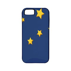 Starry Star Night Moon Blue Sky Light Yellow Apple iPhone 5 Classic Hardshell Case (PC+Silicone)