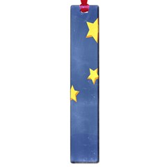 Starry Star Night Moon Blue Sky Light Yellow Large Book Marks