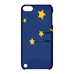 Starry Star Night Moon Blue Sky Light Yellow Apple iPod Touch 5 Hardshell Case with Stand