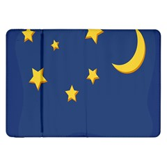 Starry Star Night Moon Blue Sky Light Yellow Samsung Galaxy Tab 8.9  P7300 Flip Case