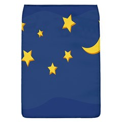 Starry Star Night Moon Blue Sky Light Yellow Flap Covers (L)