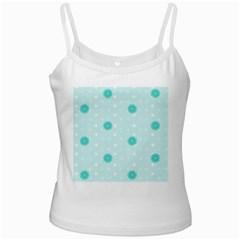 Star White Fan Blue Ladies Camisoles
