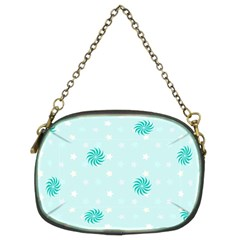 Star White Fan Blue Chain Purses (Two Sides)