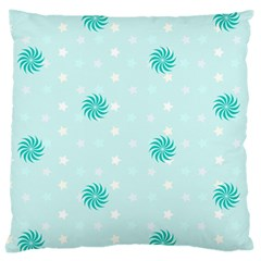 Star White Fan Blue Large Cushion Case (Two Sides)