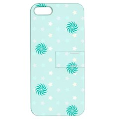 Star White Fan Blue Apple iPhone 5 Hardshell Case with Stand
