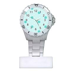 Star White Fan Blue Plastic Nurses Watch