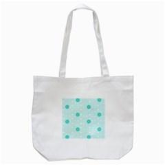 Star White Fan Blue Tote Bag (White)