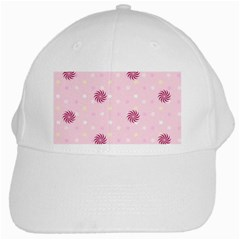 Star White Fan Pink White Cap