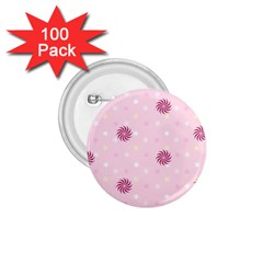 Star White Fan Pink 1.75  Buttons (100 pack)