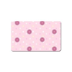 Star White Fan Pink Magnet (Name Card)