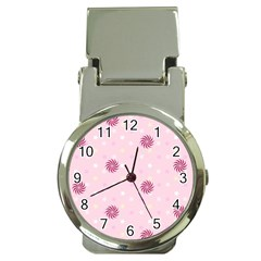 Star White Fan Pink Money Clip Watches