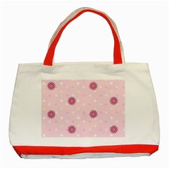 Star White Fan Pink Classic Tote Bag (Red)