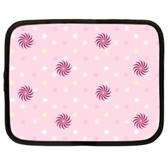 Star White Fan Pink Netbook Case (large)