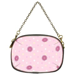 Star White Fan Pink Chain Purses (Two Sides)