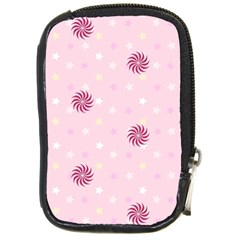 Star White Fan Pink Compact Camera Cases